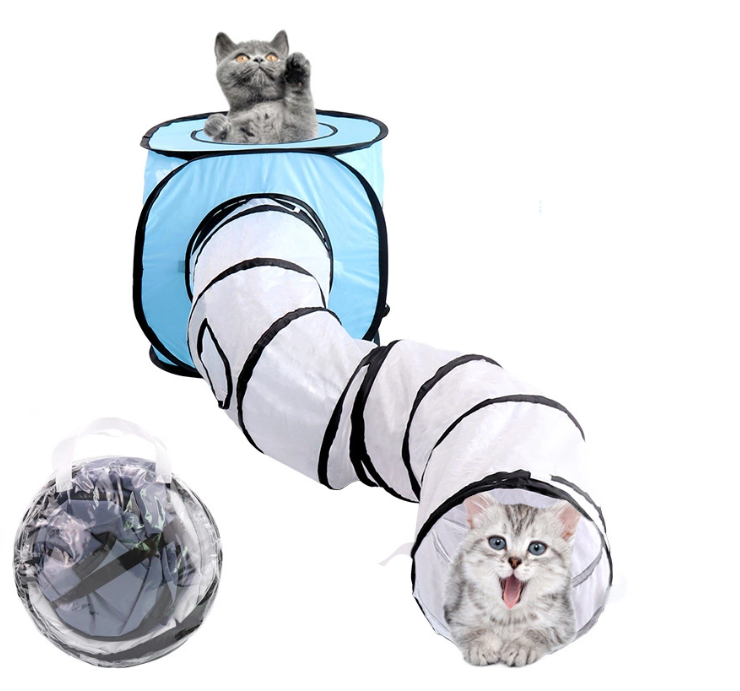 Pop Up Pet Cat Play Tunnel Tube
