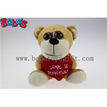 Valentine Geschenke Big Eyes Toy Serie Plüsch Bär mit Herz Kissen