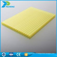 Prix d'usine en gros 4 mm panneaux en polycarbonate insonorisé feuille basse