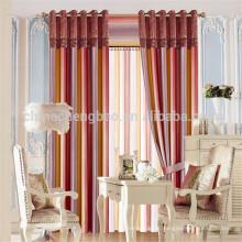 Cortina de linha 100% de material de poliéster e Stripe Style