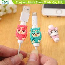 Cartoon USB cable cable cargador protector protector para auriculares y cargador USB cable de cable