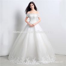 Simple design off shoulder sexy chinese wedding dress