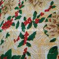 Natal impresso Mini Matt, tecido de mesa impressa 100% poliéster Mini Matt tecido impresso
