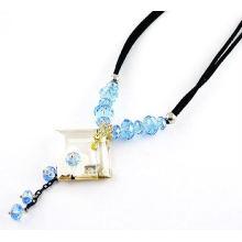 Fashionable design crystal necklace,fancy necklace design