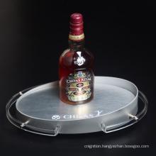 Silver LED wine bottle display rack suitable for KTV bars hotels restaurants