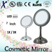 7′′ simple face miroir de courtoisie éclairé Table cosmétique