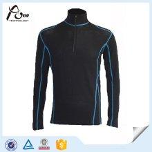 Polyester Nylon Stehkragen Laufbekleidung mit halber Reißverschluss
