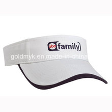 White Cotton Visors with Logo Embroidery (GKA12-A00004)