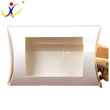 Boîte adaptée aux besoins du client de papier de forme d'oreiller de carton réutilisée par taille avec la fenêtre en gros
