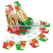 Sachet d'emballage de pain de sandwish / sac sûr de nourriture / sac d'emballage de restauration rapide