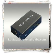 1x4 HDMI Splitter utilise une seule source HDMI, accédant à plusieurs pupitres HDMI