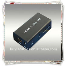 1x4 HDMI Splitter use a single HDMI source,accessing to multiple HDMI sinks