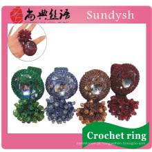 Moda por atacado de cristal unha imitação grande dedo de alta qualidade mão robusto anéis artificiais projetos de jóias para as mulheres