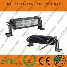 Luz de trabajo LED de 7 pulgadas 36W, barra de luz LED de 3060lm, barra de luz LED Creee de 3W para camiones