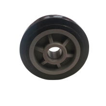 Accesorio para silla de ruedas Rueda de plástico soild de 6 pulgadas para pata de silla de ruedas
