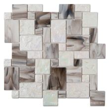 Soulscrafts Rainbow irregular Glass Mosaic Tile for Bathroom or Kitchen