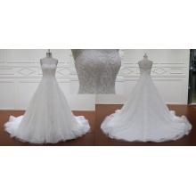 Brush Train Lace Wedding Dresses Bridal Dress