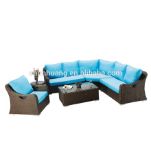 Garden furniture metal frame wicker soft rattan sofa chair