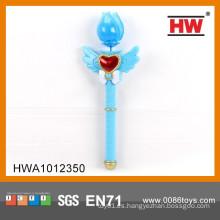 Divertido juguete de plástico 34CM llevado juguete del palillo del imán mágico de la luz que destella