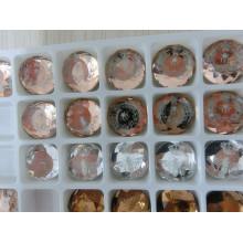 Стеклянные бусины плоской задней части камней с логотипом фото