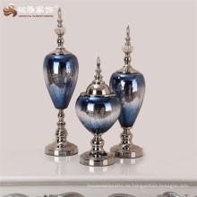 Glas Handwerk Hersteller heiße Verkaufsprodukte Home Decor Vase Set