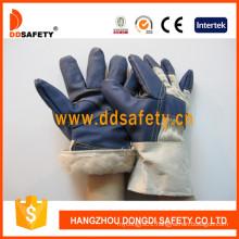 White Cotton Back Full Lining Blue Furniture Gloves Dlh106
