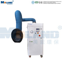 Unidad móvil de extracción de polvo y humo de soldadura