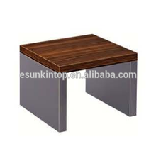 Stylish wood coffee table design for office red zebra and deep iron finishing, Fashional office furniture for sale (JO-4035-06)