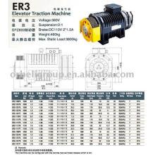 Machine de traction d'ascenseur (série Gearless ER VM)