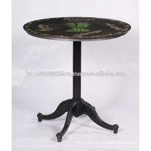 Mesa de comedor redonda negra