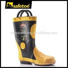 Botas de borracha de trabalho, botas de borracha isolada, botas de borracha de combate a incêndios H-9018