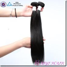 Gran paquete de pelo de trama cosido doble natural del color de la Virgen del precio de fábrica del pelo recto