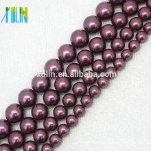 AAA 6-14mm Deep Purple Natürliche Südsee Shell Pearls Runde Perlen Halskette
