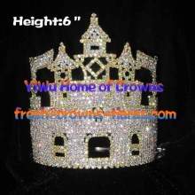 6inch Castle Crystal Rhinestone Crown