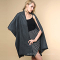 Women Fashion Plain Color 100% Acrylic Knitted Winter Shawl (YKY4517)