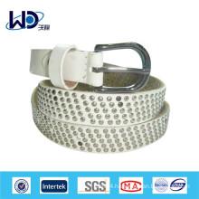 White strap rivet belt
