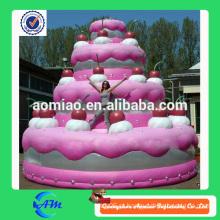 Bolo de aniversário inflável da venda quente para anunciar