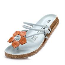 China fábrica strappy decoração flor mulheres chinelo sapatos