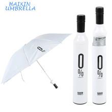 Новый промо-двери подарки дизайнерские в 3 раза бутылки вина-Деко белые малые тела зонтик для продажи в случае