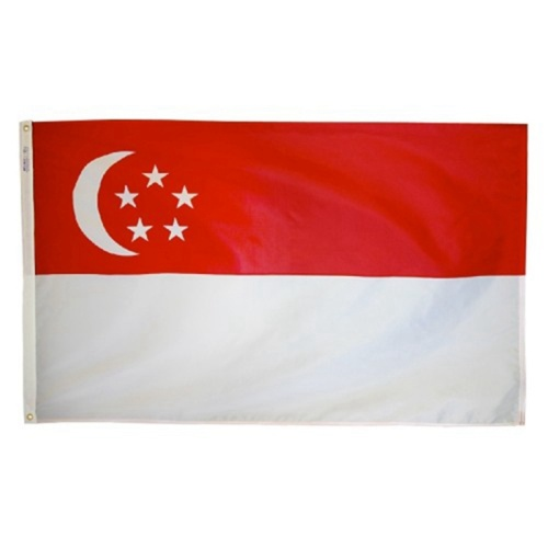 Polyester Material National Country Singapur Flagge