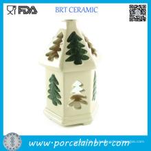 Queimador de óleo cerâmico da árvore de Natal