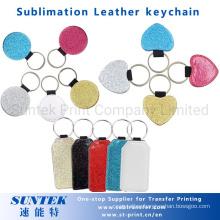 PU Glitter Leather Sublimation Keychains