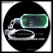 venta al por mayor Rectángulo de cristal en blanco llavero para grabado láser