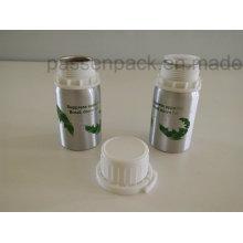 100ml Aluminium Flasche mit weißem Kunststoff Tamper-Proof Cap (Siebdruck)