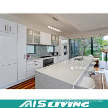 High Gloss Lacquer Kitchen Cabinet with Stone Table (AIS-K252)