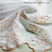 Beautiful Flower Voile Embroidery Curtain Fabric