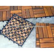 Juego de muebles de jardín de madera maciza - Azulejo de cubierta
