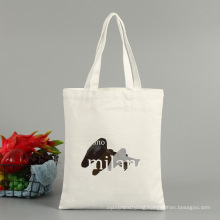 Custom promotional cotton canvas shopping tote bag with your logo and pattern