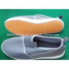 Mais recente barato senhora sapatos casuais sapatos de injeção de calçados de lona estoque (ff329-6)