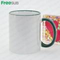 FREESUB Sublimation Heat Press Isolé Coffee Mugs